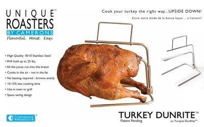 Camerons RVS Turkey DunRite - voor de perfect gegaarde kalkoen.
