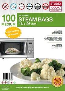 100 x Studio Cook - Stoomzakken - Quick a Steam Medium - 16 x 26 cm