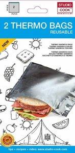 Thermo Sandwich Zakjes 21,5 x 21,5 cm en herbruikbaar! Per 2 stuks verpakt!